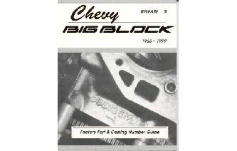 """Chevy BIG Block Factory Part & Casting Number Guide Bo Image"