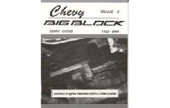 """Chevy BIG Block Factory Suffix Codes Guide Book"" Image"