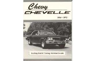 """Chevy Chevelle Casting Number & Engine Code Guide Book Image"