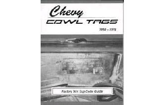 """Chevy Cowl Tags - 1950 to1975 Book"" Image"