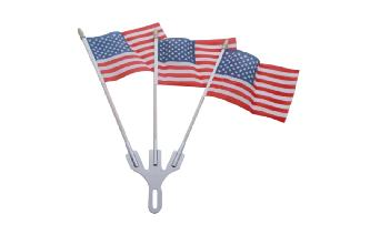 Chrome Flag Holder w/ Flag Sets Image